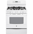 "PGB920DEFWW GE Profile Series 30"" Free-Standing Self-Clean 5.6 Cu.Ft. Gas Range - White"