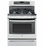 "PGB940SEHSS GE Profile Series 30"" Free-Standing Self Clean Gas Range with Warming Drawer - Stainless Steel"