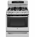 "PGB945SEFSS GE Profile Series 30"" Free-Standing Self Clean Gas Range with Warming Drawer - Stainless Steel"