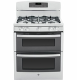 "PGB950SEFSS GE Profile Series 30"" Free-Standing Gas Double 6.8 Cu. Ft. Oven with Convection Range - Stainless Steel"
