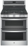 "PGB960SEJSS GE Profile Series 30"" Free-Standing Gas Double Oven Convection Range with Dual Purpose Center Burner - Stainless Steel"