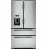 PGS25KSESS GE Profile 24.8 Cu. Ft. French-Door Refrigerator with In Door Icemaker - Stainless Steel
