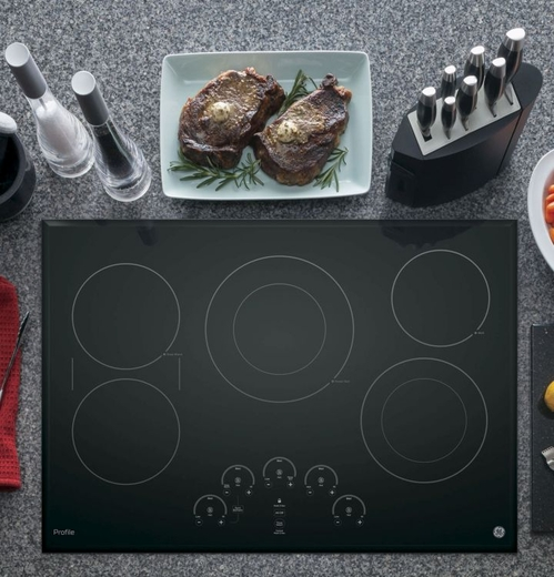 "PP9030DJBB GE Profile Series 30"" Built-In Touch Control Electric Cooktop - Black"