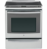"PS920SFSS GE Profile Series 30"" Slide-In Electric Convection Range with Warming Drawer - Stainless Steel"