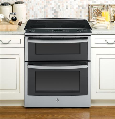 in double oven electric 6 6 cu ft convection range stainless steel