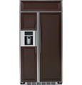 "PSB42YPHSV GE Profile Series 42"" Built-In Side-by-Side Refrigerator with External Controls - Custom Panel"