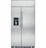 "PSB42YSHSS GE Profile Series 42"" Built-In Stainless Side-by-Side Refrigerator with External Controls - Stainless Steel"