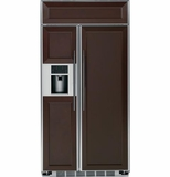 "PSB48YPHSV GE Profile Series 48"" Built-In Side-by-Side Refrigerator with External Controls - Custom Panel"