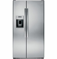 PSE29KSESS GE Profile Series ENERGY STAR 29.1 Cu. Ft. Side-by-Side Refrigerator with Dispenser - Stainless Steel