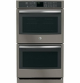 "PT7550EHES GE Profile Series 30"" Built-In Double Wall Oven with Convection - Slate"