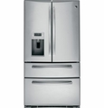 PVS21KSESS GE Profile Series Counter Depth 20.7 Cu. Ft. Refrigerator with Armoire Styling & Dispenser - Stainless Steel