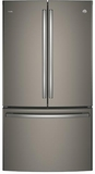 "PWE23KMKES GE Profile 36"" Counter Depth 23.1 Cu. Ft. French Door Refrigerator with Internal Water Dispenser - Slate"