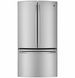 PWE23KSDSS GE Profile Series Energy Star 22.7 Cu. Ft. Counter Depth French-Door Refrigerator with TwinChill Evaporators - Stainless Steel