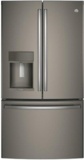 "PYE22KMKES GE Profile 36"" 22.2 Cu. Ft. Counter-Depth French-Door Refrigerator with Hands Free Autofill - Slate"