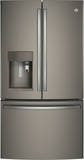 "PYE22PMKES GE 36"" Counter Depth French Door Refrigerator with 22.2 cu. ft. Capacity, Keurig K-Cup System and 4 Adjustable Glass Shelves - Slate"