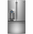 PYE22PSHSS GE Profile Series Energy Star 22.1 Cu. Ft. Counter-Depth French-Door Ice & Water Refrigerator - Stainless Steel