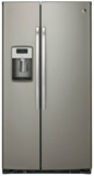 "PZS22MMKES GE Profile 36"" Counter Depth Side-By-Side Refrigerator with Quick Ice and Led Lighting- Stainless Steel"