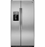 PZS25KSESS GE Profile Series 24.6 Cu. Ft. Counter-Depth Side-by-Side Refrigerator - Stainless Steel