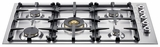 "QB36500X Bertazzoni Professional Series 36"" 5-Burner Gas Cooktop - Stainless Steel"
