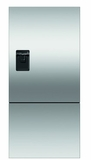 """RF170BLPUX6 Fisher & Paykel 32"""" ActiveSmart Ice & Water Bottom Freezer Counter Depth Refrigerator with 17.6 cu. ft. Capacity and Freezer Tray - Left Hinge - Stainless Steel"""