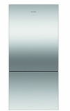 "RF170BLPX6 Fisher & Paykel 32"" ActiveSmart Bottom Freezer Counter Depth Refrigerator with 17.6 cu. ft. Capacity and Freezer Tray - Left Hinge - Stainless Steel"
