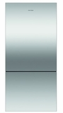 "RF170BRPX6 Fisher & Paykel 32"" ActiveSmart Bottom Freezer Counter Depth Refrigerator with 17.6 cu. ft. Capacity and Freezer Tray - Right Hinge - Stainless Steel"
