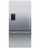 RF170WDLUX5 Fisher & Paykel ActiveSmart� Fridge - 17 cu. ft. Counter Depth Bottom Freezer with Ice & Water - Left Hinge - EZKleen Stainless Steel
