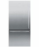 RF170WDLX5 Fisher Paykel ActiveSmart Fridge - Left Hinge - 17 cu. ft. Counter Depth Bottom Freezer Refrigerator - EZKleen Stainless Steel