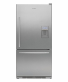 RF175WCRUX1 Fisher & Paykel Active Smart Bottom Mount Refrigerator with Dispenser - Right Hinge - Stainless Steel