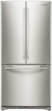 "RF18HFENBSP Samsung 33"" Wide 18 cu. ft. Capacity Counter Depth French Door Refrigerator - Stainless Platinum"