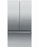 "RF201ADX5 Fisher Paykel ActiveSmart 20.1 Cu. Ft. Counter Depth 36"" French Door Refrigerator - Stainless Steel"
