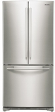 "RF20HFENBSP Samsung 33"" Wide 20 Cu. Ft. Capacity French Door Refrigerator with Twin Cooling System - Stainless Steel"