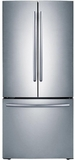 "RF20HFENBSR Samsung 33"" Wide, 20 cu. ft. Capacity French Door Refrigerator with Ice Maker- Stainless Steel"