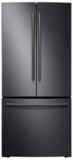 """RF220NCTASG Samsung 30"""" 21.8 cu. ft. Capacity French Door Refrigerator with High-Efficiency LED Lighting - Black Stainless Steel"""