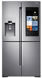 "RF22K9581SR Samsung 36"" 22 cu. ft. Counter Depth 4 Door Flex Refrigerator with Family Hub - Stainless Steel"