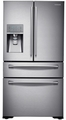 RF23HSESBSR Samsung 22.6 cu.ft 4-Door Counter Depth French Door Refrigerator with Built-in Water Carbonation  - Stainless Steel