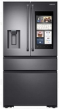 """RF23K8590SG Samsung 36"""" 22.2 cu. ft. Counter Depth 4 Door Refrigerator with Family Hub 2.0 and Twin Cooling Plus - Black Stainless Steel"""