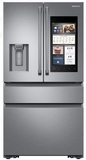 """RF23K8590SR Samsung 36"""" 22.2 cu. ft. Counter Depth 4 Door Refrigerator with Family Hub 2.0 and Twin Cooling Plus - Stainless Steel"""