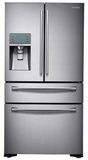 RF24FSEDBSR Samsung 24 cu. ft. Counter Depth 4-Door Refrigerator with FlexZone Drawer - Stainless Steel