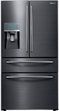 RF28JBEDBSG Samsung 28 Cu. Ft. 4-Door French Door Refrigerator with Food ShowCase Fridge Door - Black Stainless Steel