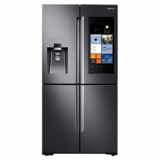 "RF28K9580SG Samsung 36"" 4-Door Flex 28 Cu. Ft. French Door Refrigerator with Wi-Fi Enabled Family Hub - Black Stainless Steel"