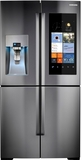 "RF28K9580SR Samsung 36"" 4-Door Flex 28 Cu. Ft. Frech Door Refrigerator with Wi-Fi Enabled Family Hub - Stainless Steel"