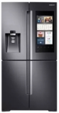 """RF28M9580SG Samsung 36"""" 27.9 cu. ft.  French Door Refrigerator with Family Hub� and Built-In Cameras - Black Stainless Steel"""