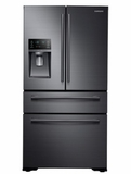 """RF30KMEDBSG Samsung 36"""" Ultra Capacity 4 Door French Door Refrigerator  with FlexZone Drawer and Twin Cooling Plus  - Black Stainless Steel"""