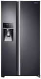 "RH22H9010SG Samsung 36"" 21.5 cu. ft. Capacity Counter Depth Side-by-Side Refrigerator with LED Lighting and Multi Air Flow - Black Stainless Steel"