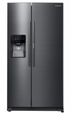 "RH25H5611SG Samsung 36""-Wide, 24.7 cu. ft. Capacity Side-by-Side Food ShowCase Refrigerator with Metal Cooling - Black Stainless Steel"