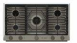 "RNCT365GSLP Dacor 36"" Renaissance Gas Cooktop with 5 Burners and Die Cast Knobs - Liquid Propane - Stainless Steel"