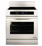 "RNR30NFS Dacor Renaissance 30"" Induction Freestanding Range with Flush Handle - Stainless Steel"