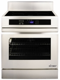 "RR30NFS Dacor Renaissance Series 30"" Induction Freestanding Range with Flush Handle - Stainless and Black Ceramic Glass"