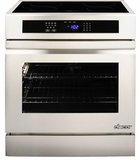 "RR30NIFS Dacor Renaissance Series 30"" Induction Slide-In Range with Flush Handle - Stainless and Black Ceramic Glass"